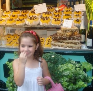 Rafaella e os doces de polenta em Bergamo